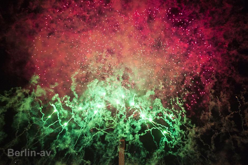 Pyronale 2015 - Aus dem Feuerwerk des Siegers Mexiko