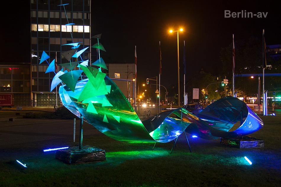 Lichtkunst auf dem Ernst-Reuter-Platz