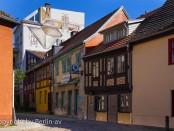 """Häuser im """"Kolk"""" auf der Insel Behnitz"""