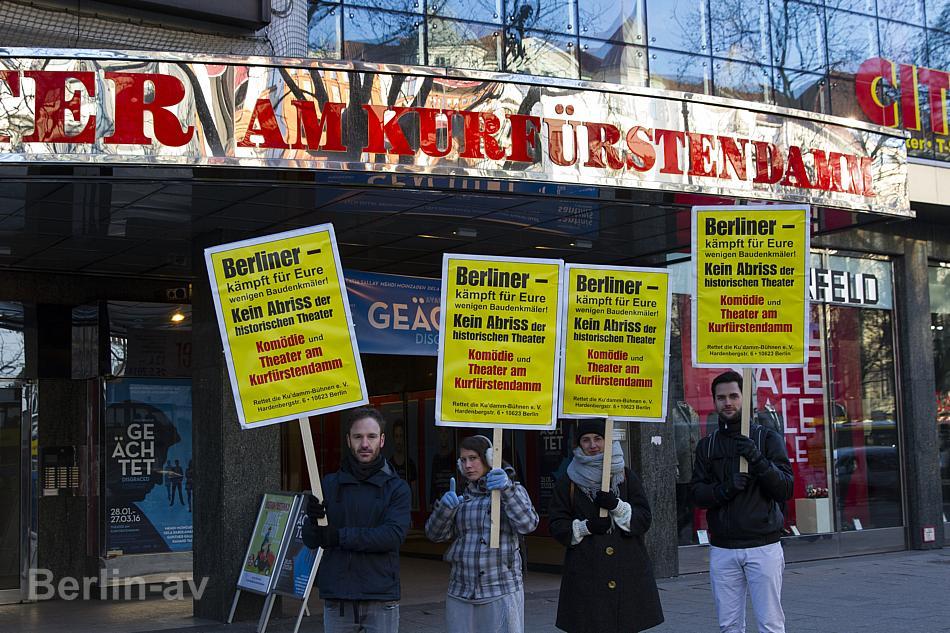 """Aufmerksamkeit für das """"Theater am Kurfürstendamm"""". Es soll im wahrsten Sinne des Wortes unter die Erde."""