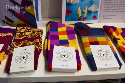Bright Tradeshow in Berlin. Kunterbunte stylische Socken von Sammy Icon aus der Ukraine