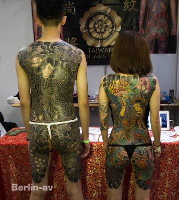 tattoo Convention Berlin - Wunderschöne Rückenkunstwerke von Shain Jaing aus Taiwan.