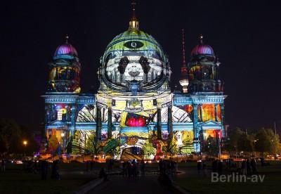 Berlin leuchtet 2016 - Wechselnde Motive auf dem Berliner Dom