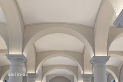 Gewölbe im Erdgeschoss im Museum Barberini in Potsdam