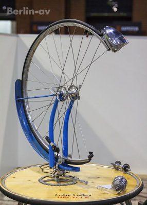 Berliner Fahrradschau 2017 - Lampe aus alten Fahrradteilen