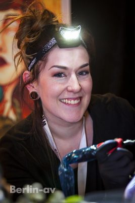 June Pedersen aus Norwegen auf den Lady Ink Days in Berlin