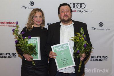 Anna König und Till Butterbach (Beste Schauspielerin und bester Schauspieler)