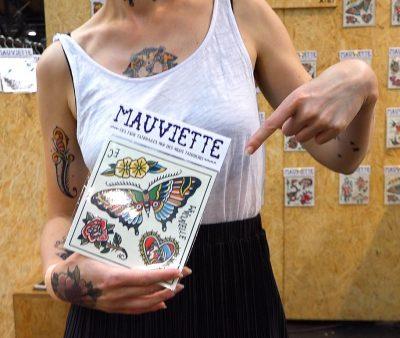 Kein Tattoo! Eine originelle, ziemlich echt aussehende Alternative zum gestochenen Tattoo: Mauviette aus Frankreich