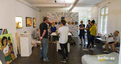 Tape Art Convention 2018 - Letzte Vorbereitungen zur Ausstellung in der Galerie Neurotitan