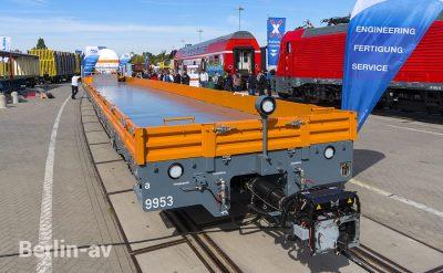 Flachwagen von MSG auf der Innotrans 2018