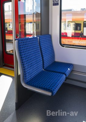 Die Sitze in der neuen Berliner S-Bahn - Innotrans 2018