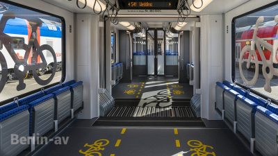 Mehrzweckbereich in der neuen Berliner S-Bahn