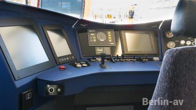 Fahrerstand in der neuen Berliner S-Bahn - Innotrans 2018