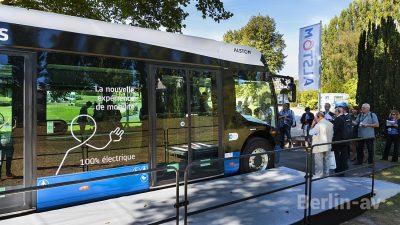 """Der batteriebetriebene Bus """"Aptis"""" von Alstom."""