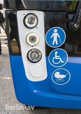 """Detail """"Aptis"""" Bus von Alstom auf der Innotrans 2018"""