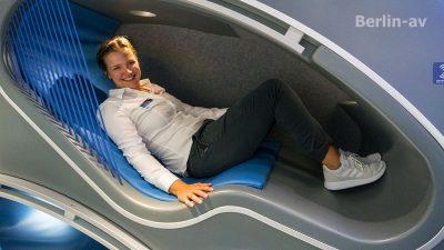 Innovative Power-napping Liege im Ideenzug der DB - Innotrans 2018