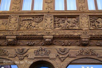 Wernigerode - Fachwerk mit reichen Verzierungen am Krummelschen Haus