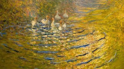 Detail eines Werkes von Claude Monet. Museum Barberini Potsdam